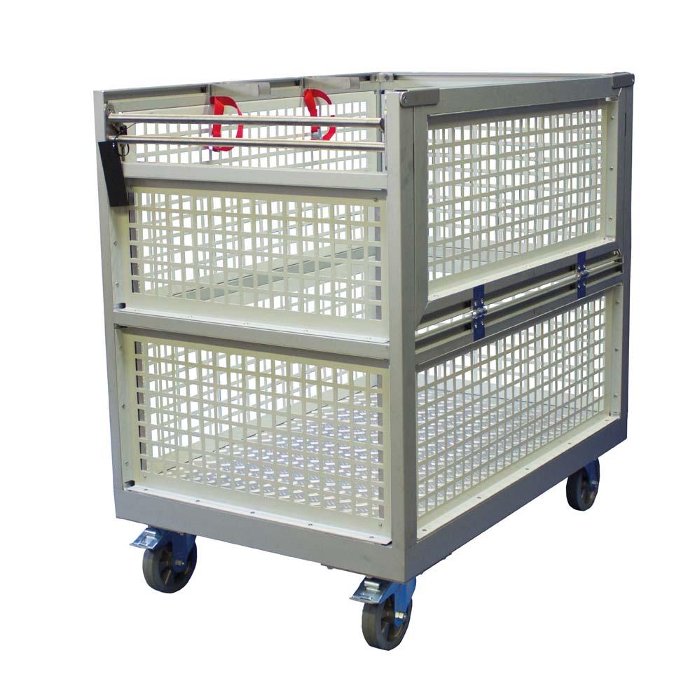 6Rollcontainer Gitterbox_schräg hinten